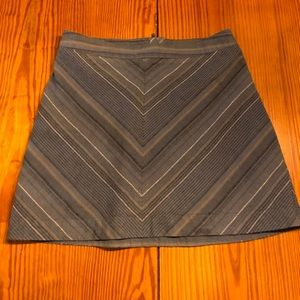 Free People Striped Blue Mini Skirt